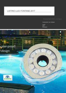 catalogo luci per fontane