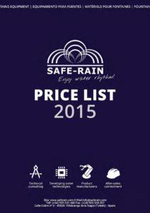 listino saferain 2015