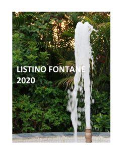 listino fontane 2020